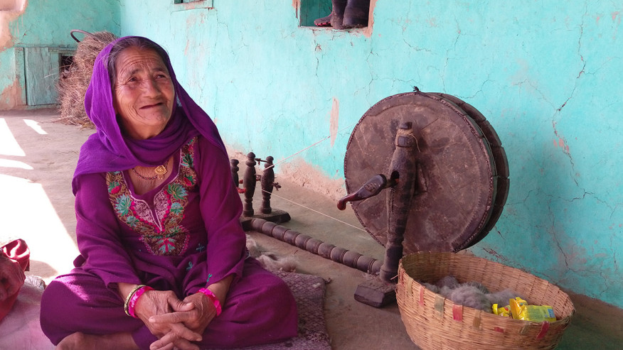An old woman of the Gaddi tribe