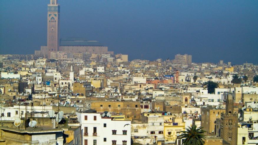 View of Casablanca city