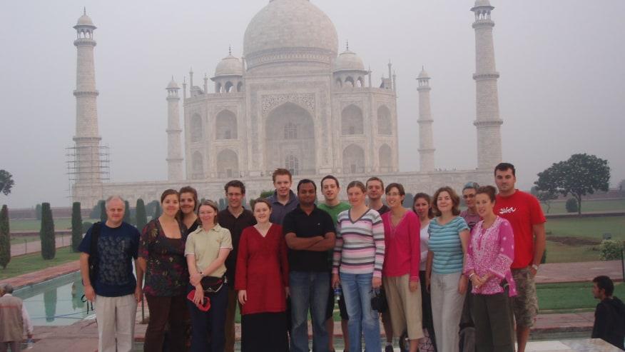 Taj mahal & my guests