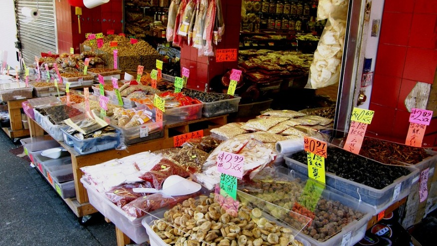 Foodstuff stall in Chinatown