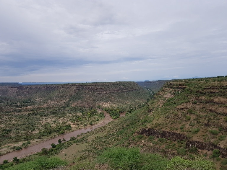 Overview of Awash River Gorge