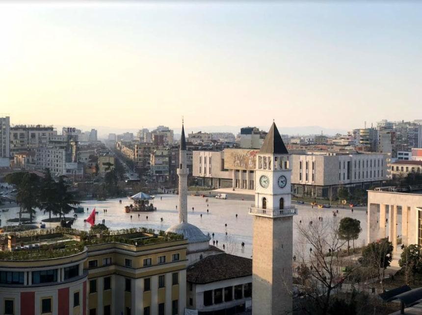 The vibrant capital of  Tirana