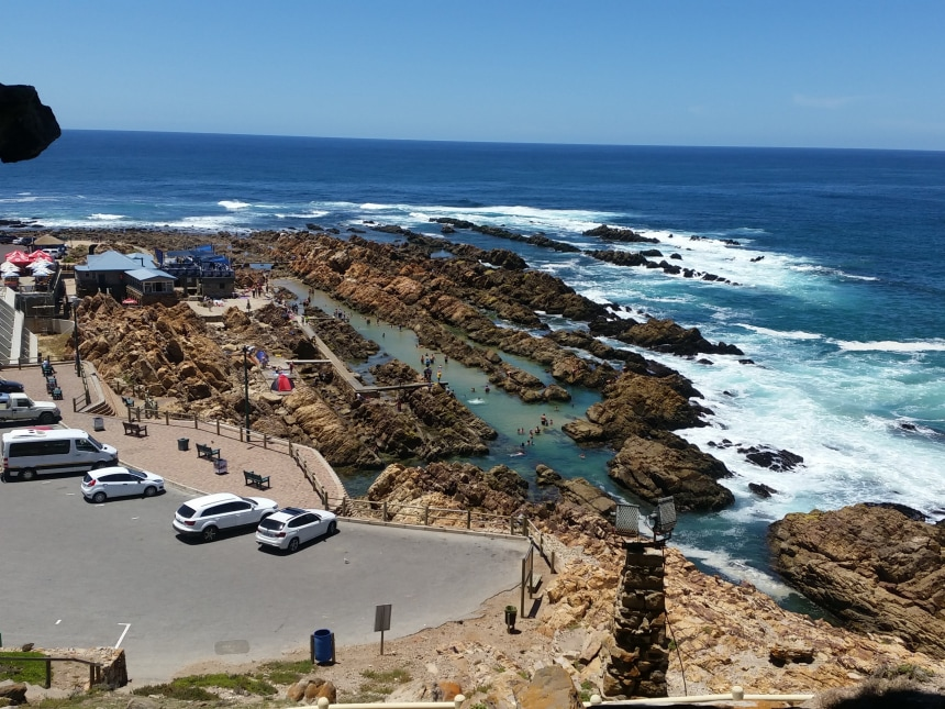 Swimming at the Point in Mosselbay