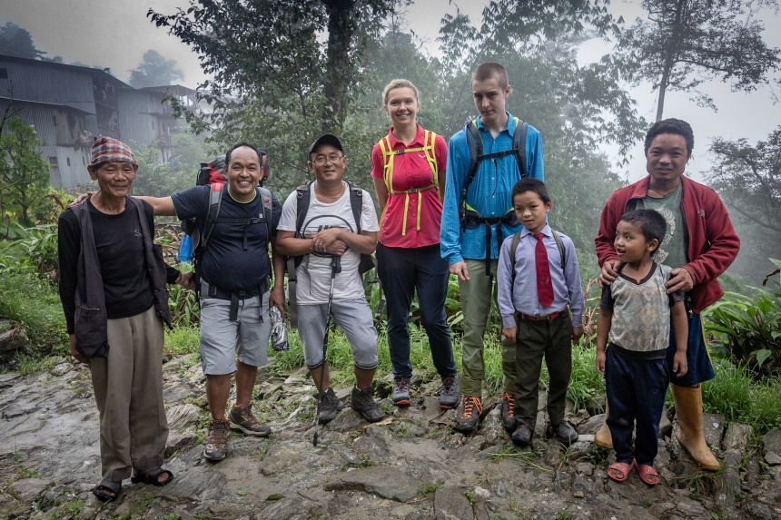 Photograph with locals