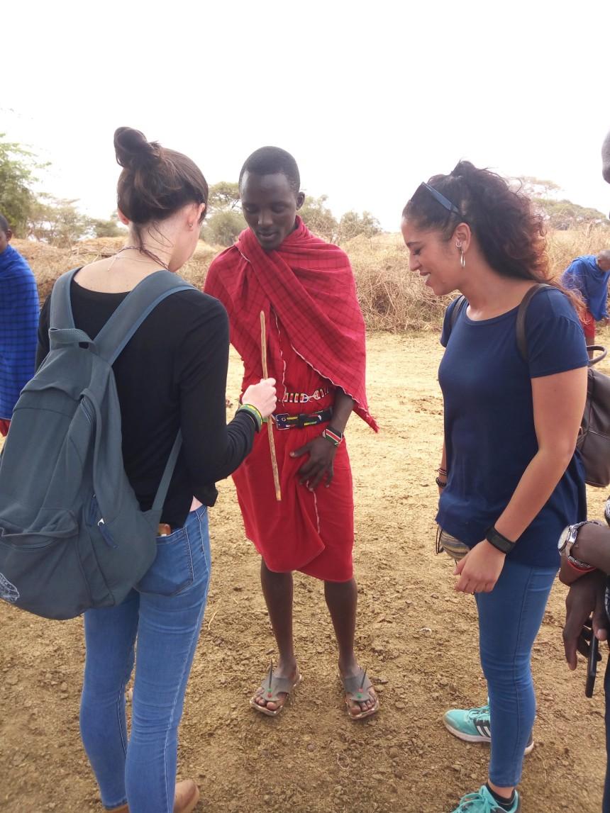Interact with Maasai communities