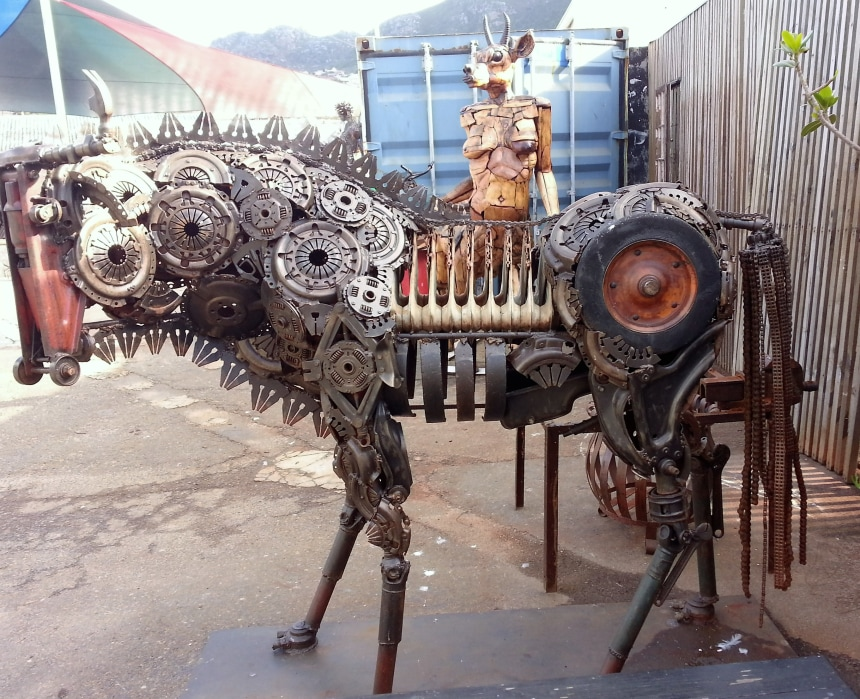 Sculptures at Craft Market in Hout Bay