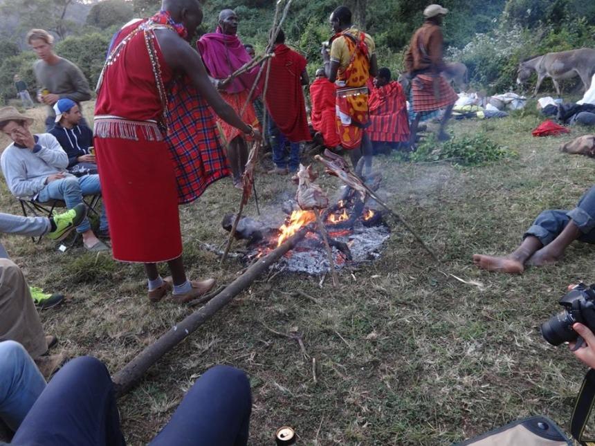 Interact with Maasai people
