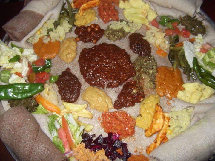 Ethiopian Food at Harar local family house