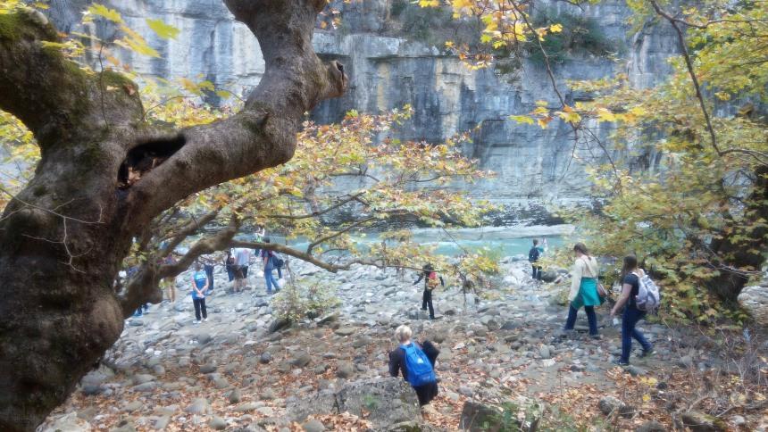 Trekking near the canyon