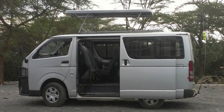 Four Wheel Tour Van with popup roof