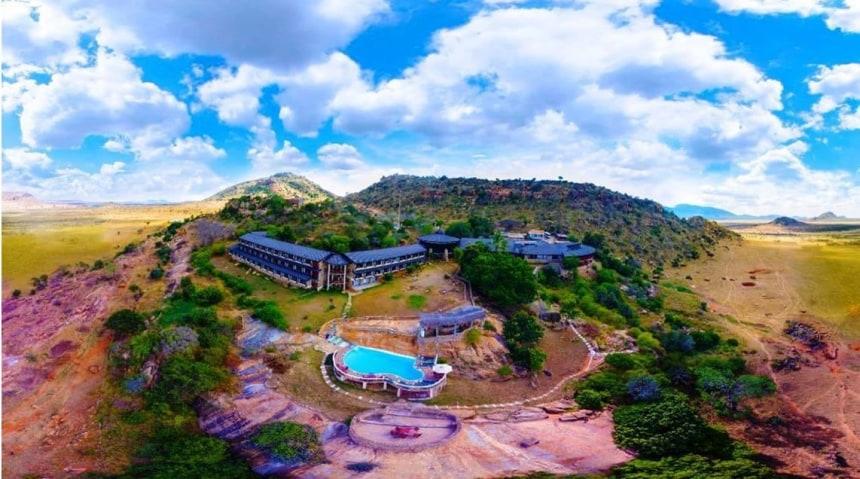 View of the lodge at Tsavo