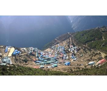 Namche Bazaar the tourist capital of Everest reason of Nepal.