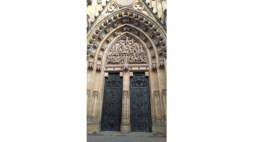 The gate of St. Vitus Cathedral