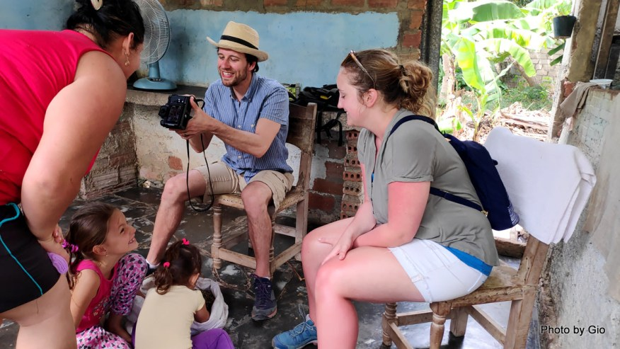 Visiting a local family in Trinidad, Cuba