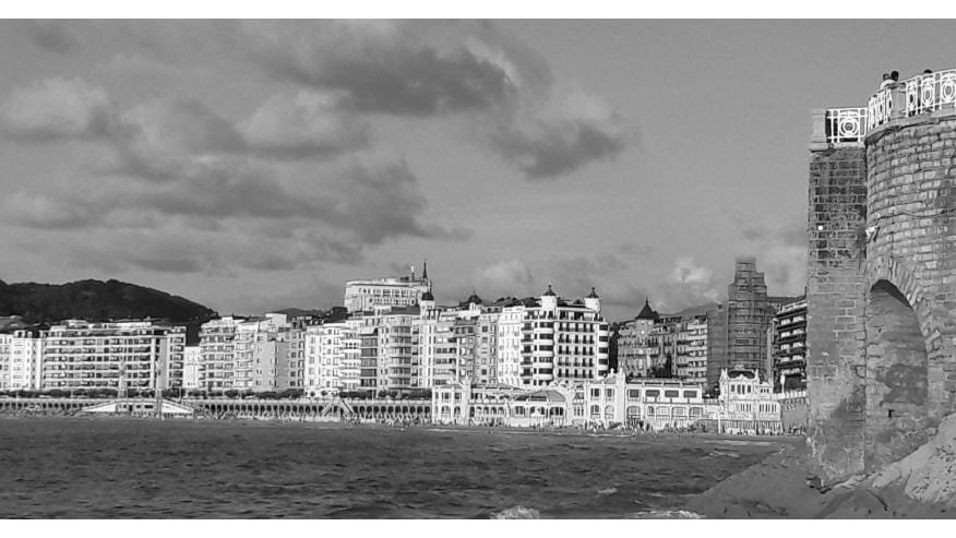 Monochrome photoof San Sebestian