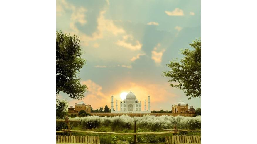 Taj Mahal during sunset