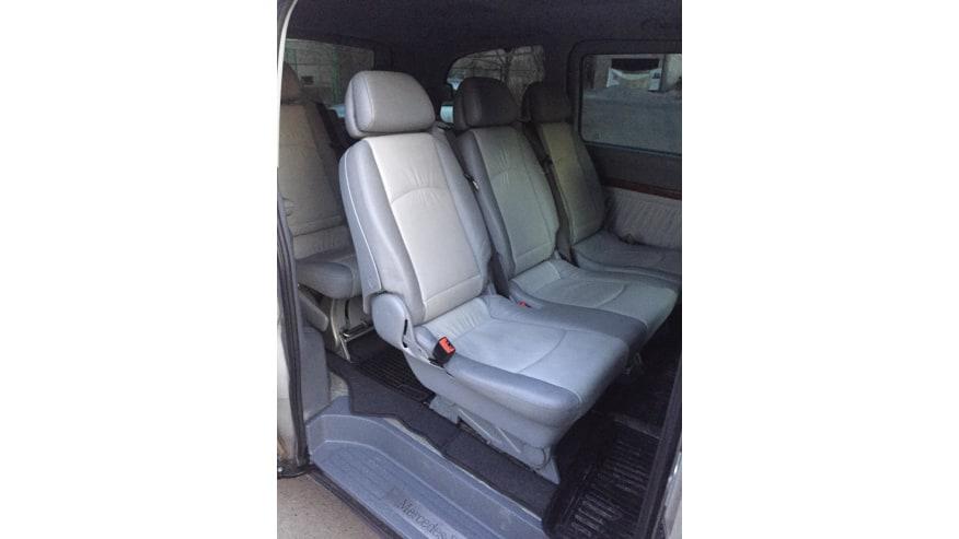 Inside of the minivan