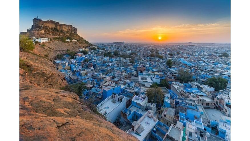 Jodhpur fort & blue houses
