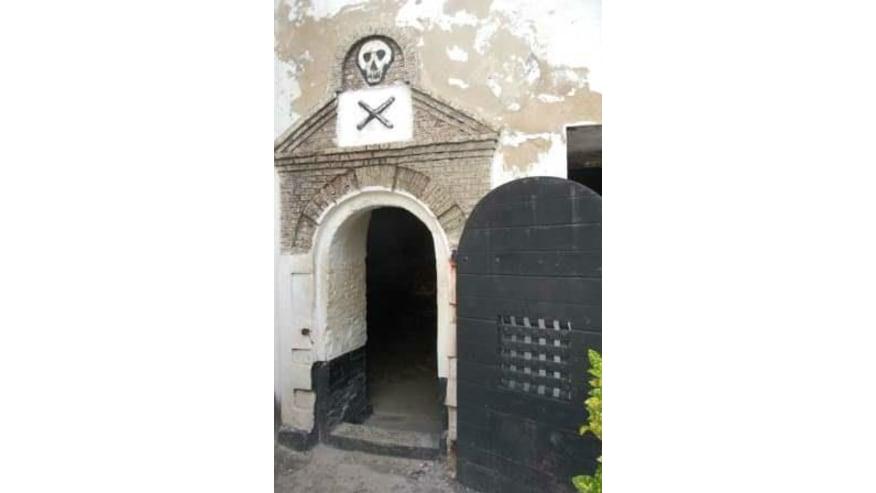 Dungeon entrance at Elmina Castle