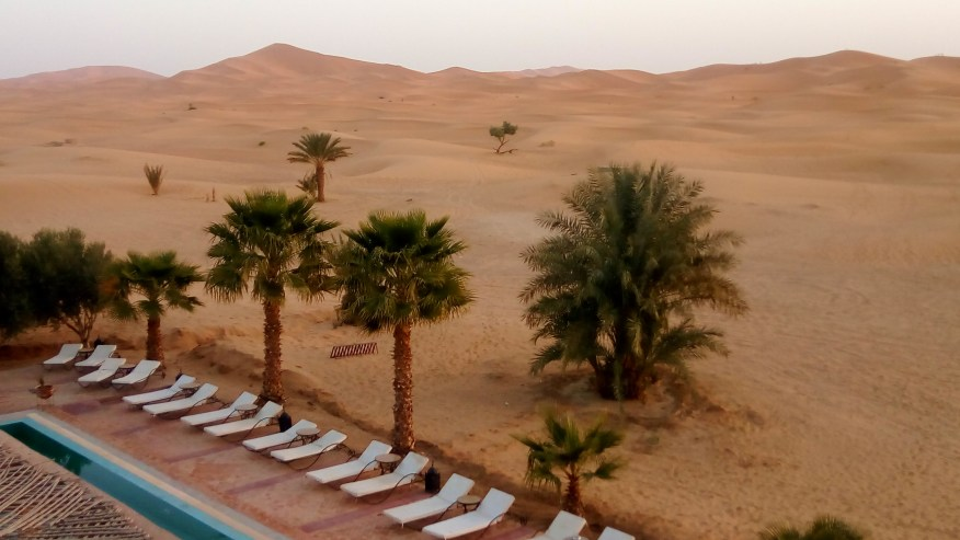 Sand dunes from a Hotel