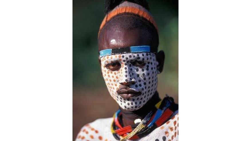Karo tribe is renowned for their face paintings