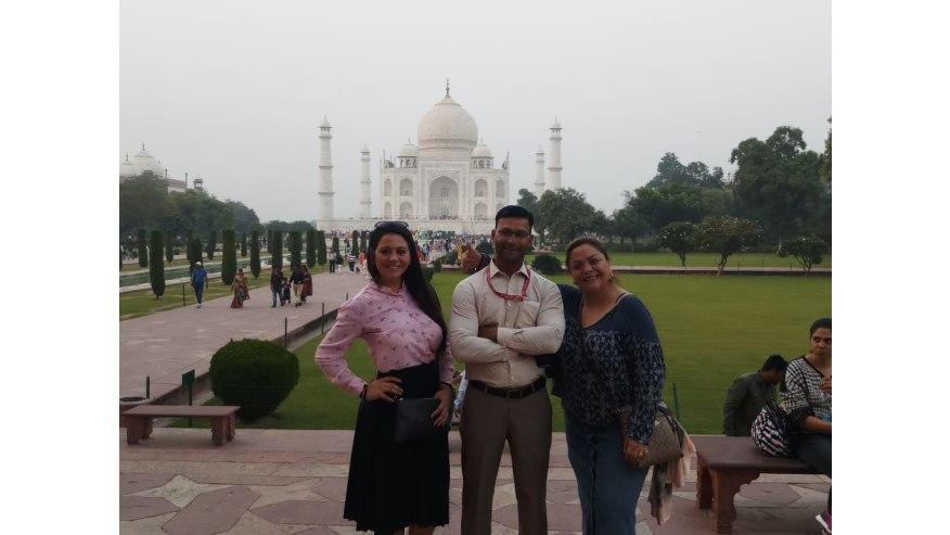 Photo at the Taj Mahal