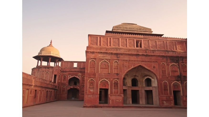 Agra Fort- One of the main tourist destinations.