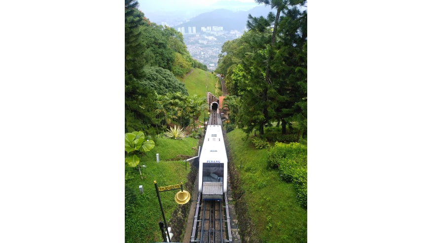 Funicular ride to Penang Hill