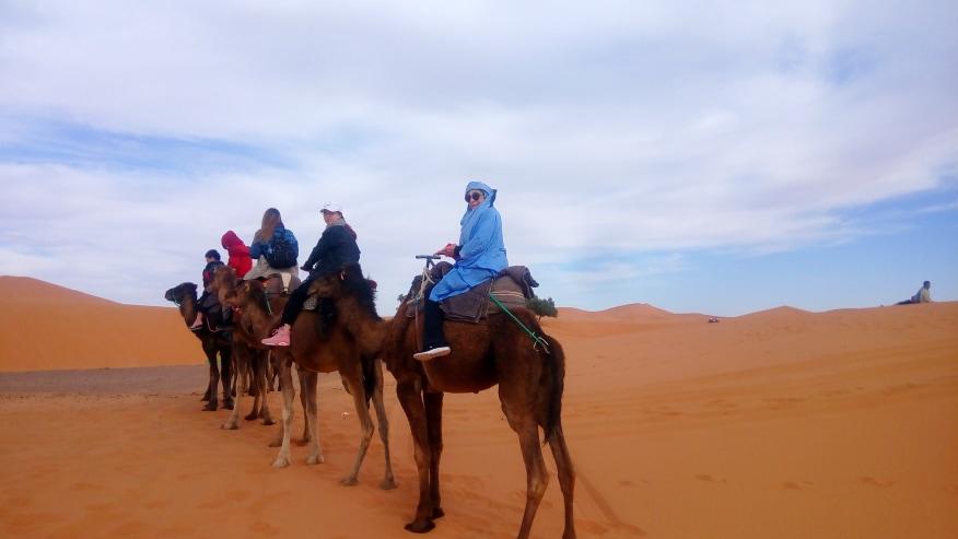 Ride Camels over Sand dunes