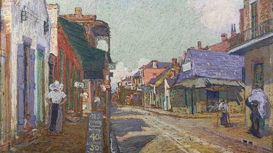 Dauphine Street, Circa 1900; Ellsworth Woodward