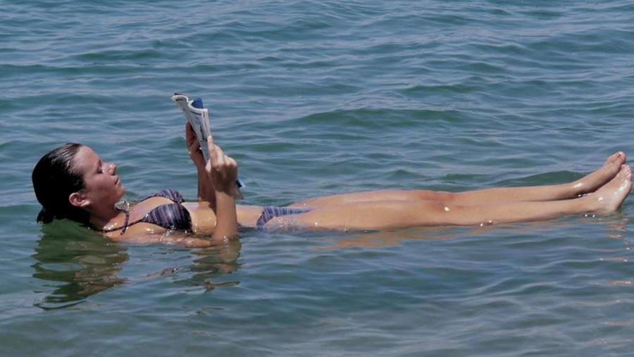 Floating at Dead Sea - Jordan