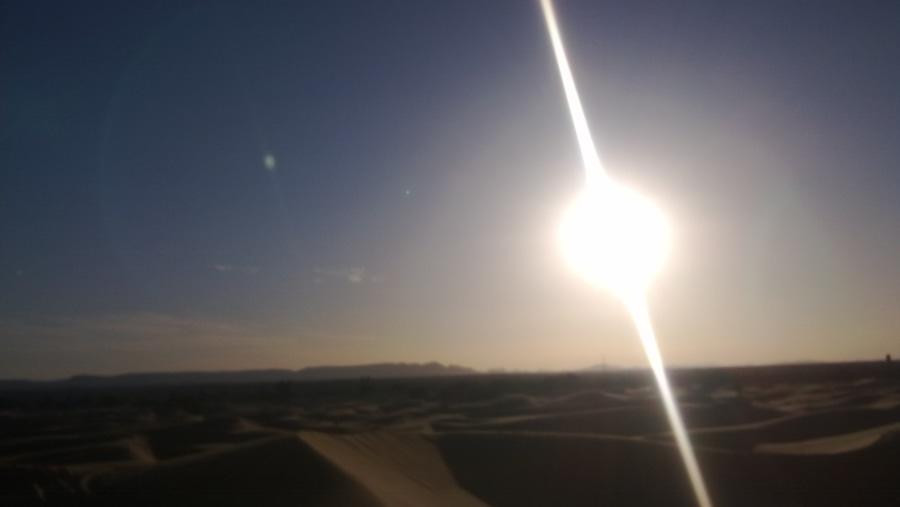 Sunset, ERg chebbi sand dunes, Sahara desert