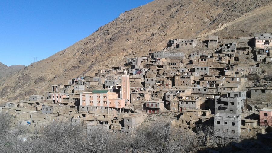 Berber village, Atlas mountains