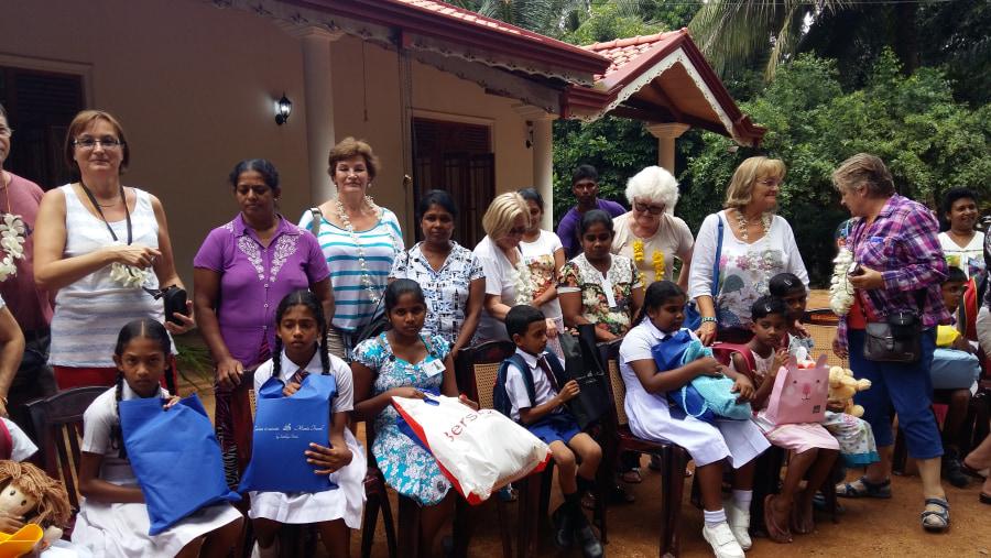 Donation to school children