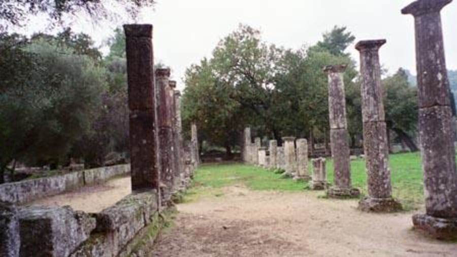 ruins at Olympia , Greece