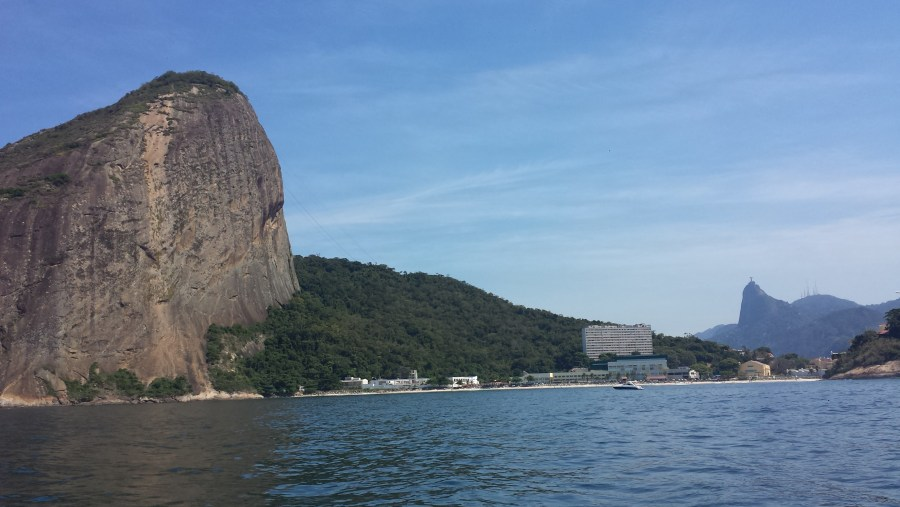 Sugar Loaf and Corcovado from Guanabara Bay