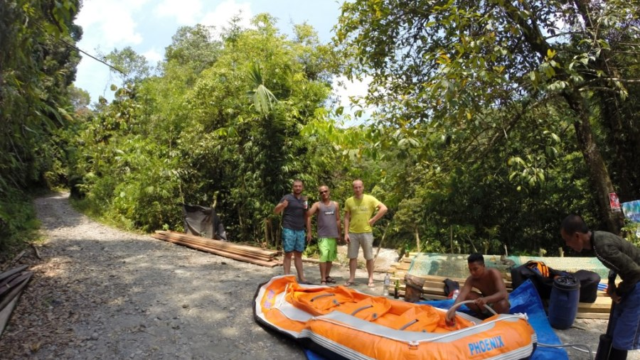 Preparation for rafting