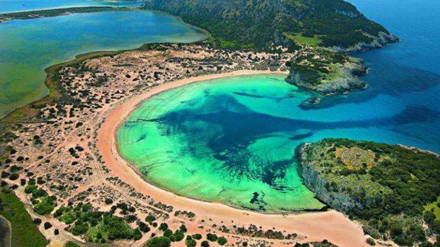 Voidokoilia beach, Messinia, Peloponnese