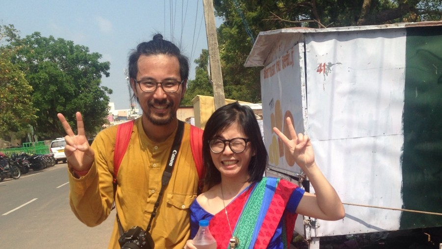 Friend I meet in guide Japanese couple