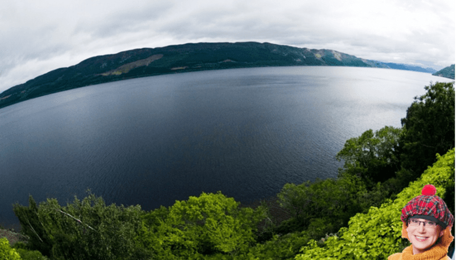View of Loch Ness from the road - Вид на озеро Лох Несс