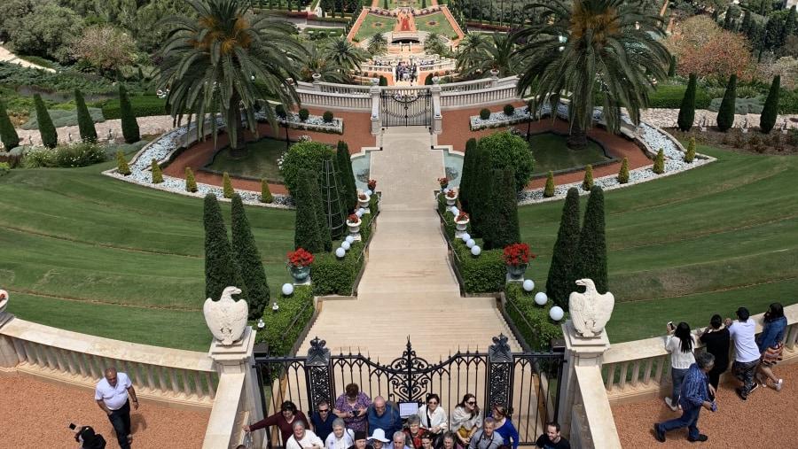 Baha'i Gardens panorama