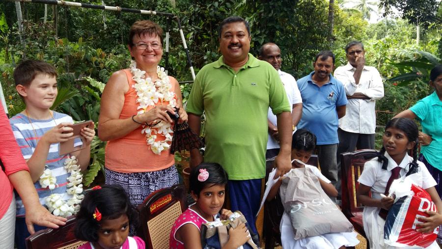 Speach after donation to school children