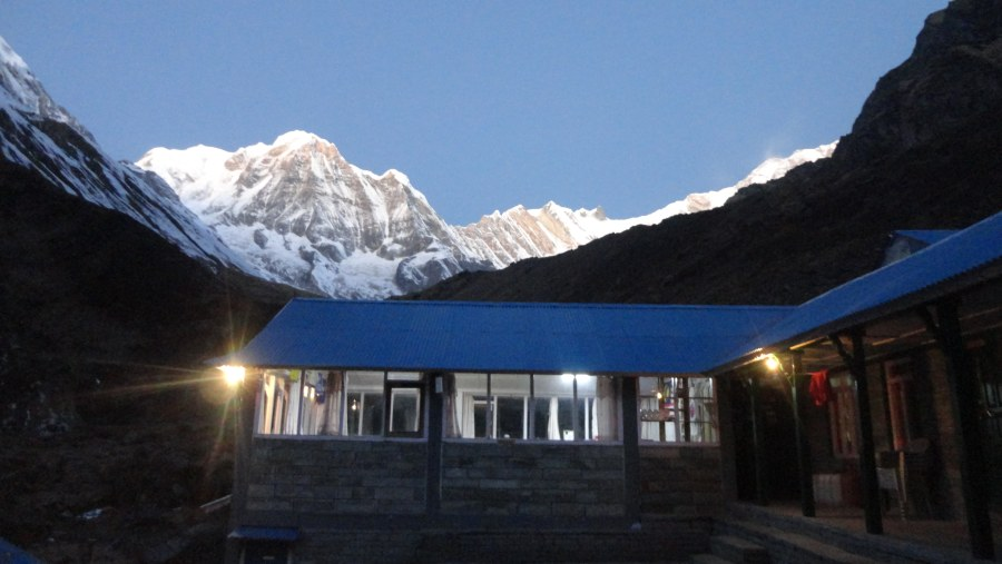 View of the Annapurna Range