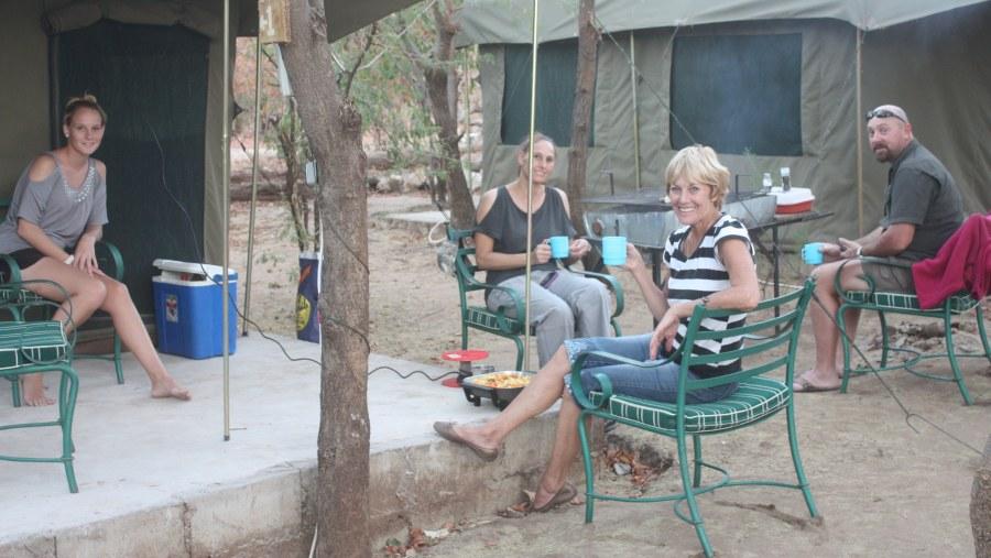 Guests at Campsite