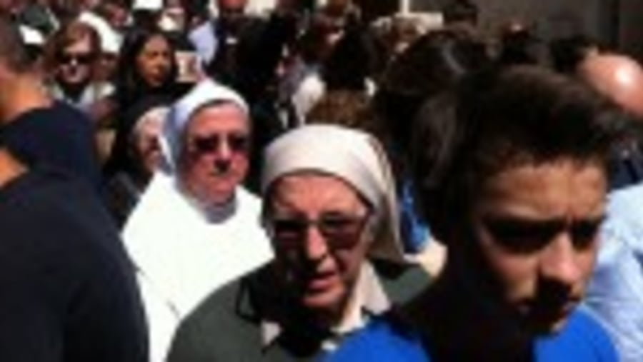 Procession along the Via Dolorosa
