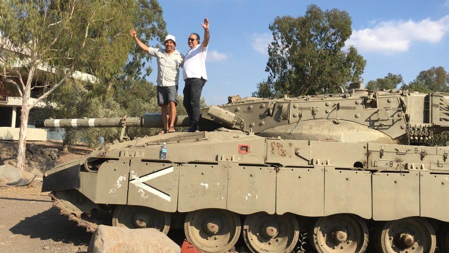 On merkava tank