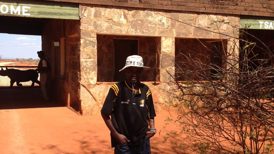 At Tsavo East Gate