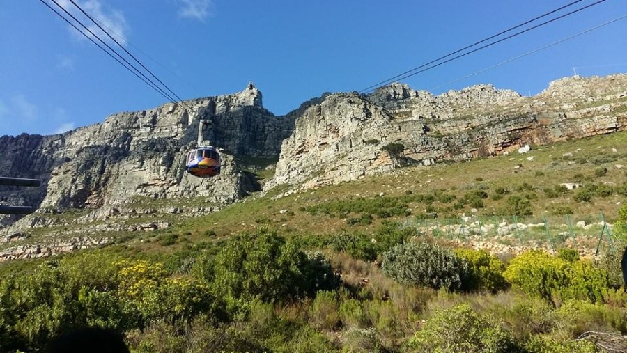 Cable cars crossing