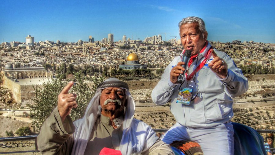 On the top of Mount of Olives