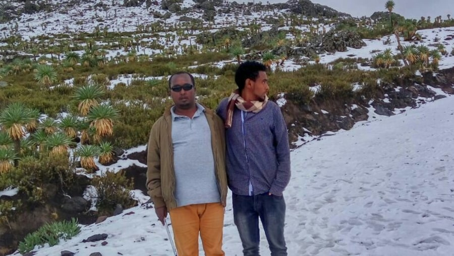 So cold to be on the 9th highest mountain in Africa 2420 meter Above sea level